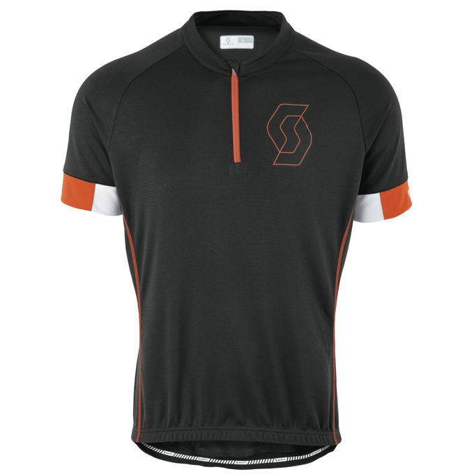 SCOTT Endurance 40 S/SL Shirt black/tangerine orange