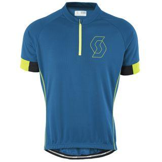 SCOTT Endurance 40 S/SL Shirt mykonos blue/tender green 001