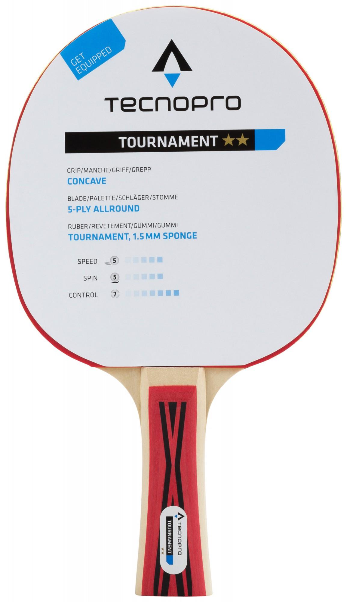 TECNOPRO Tischtennisschläger Tournament 1 Stern