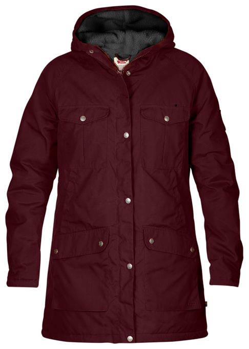 Fjäll Räven Damen Parka Greenland Winter Dark Garnet