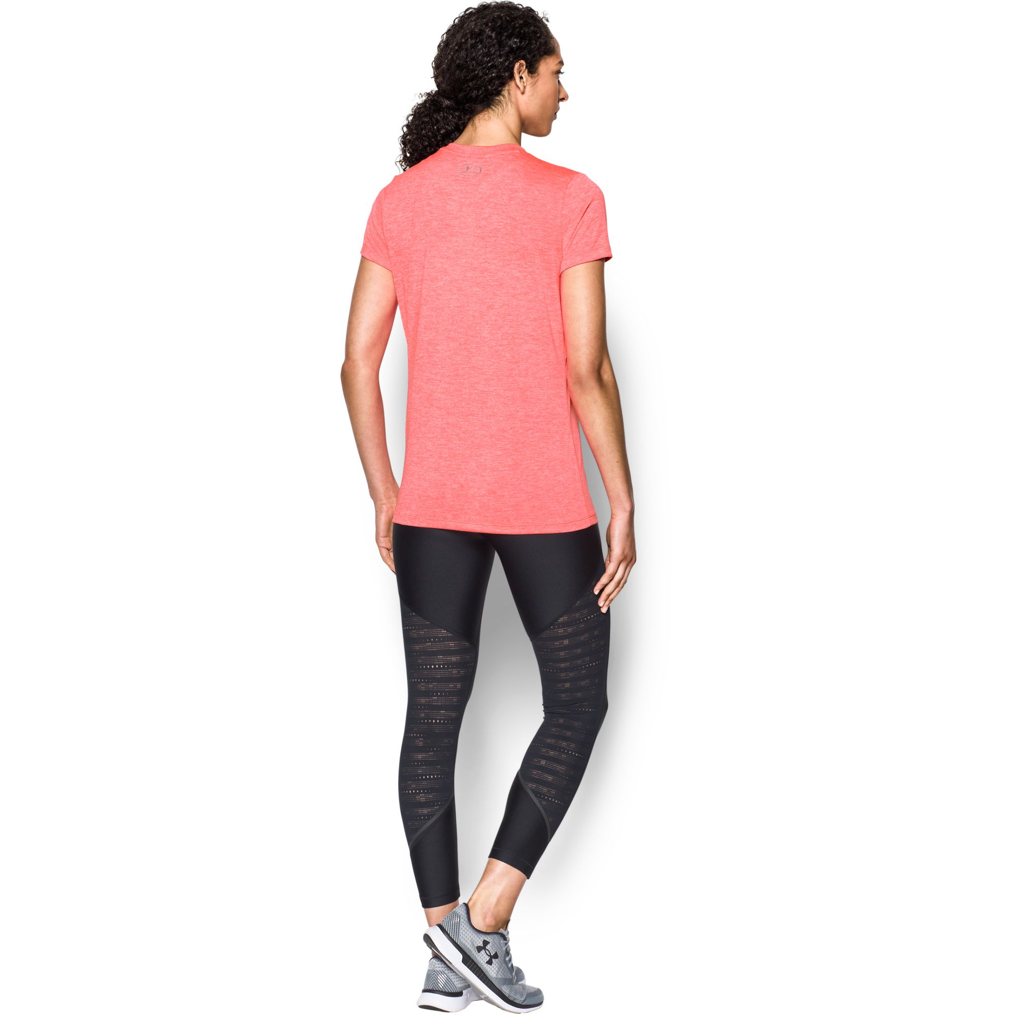 under armour damen t shirt mit v ausschnitt ua twist. Black Bedroom Furniture Sets. Home Design Ideas