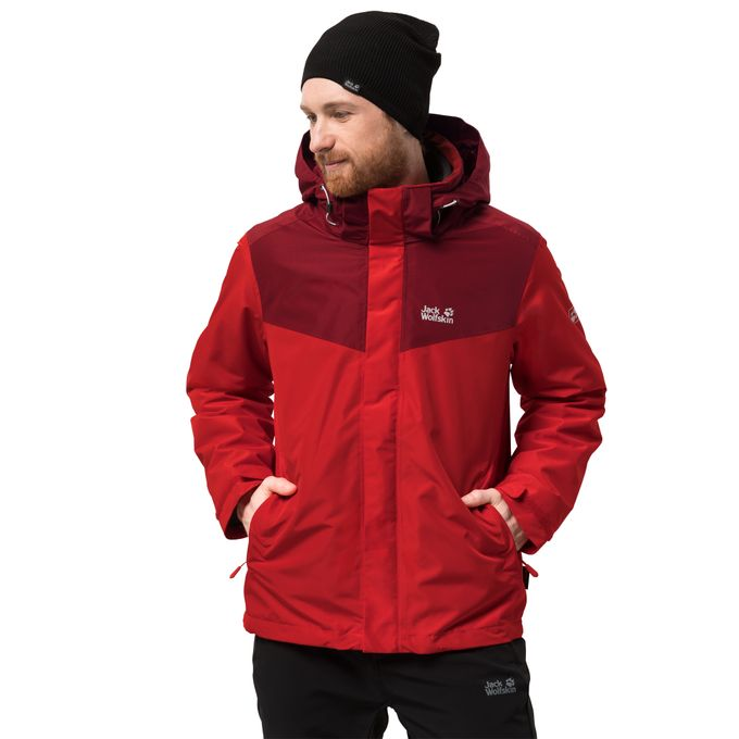Jack Wolfskin ARLAND 3IN1 M Jacke peak red