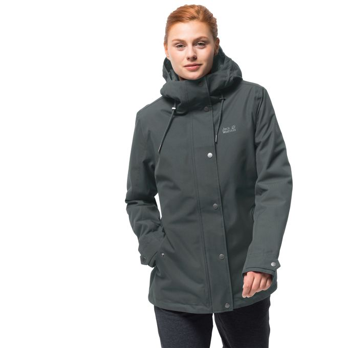 Jack Wolfskin MORA Jacket Women greenisch grey