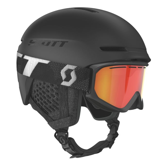 SCOTT Track Skihelm + Skibrille Fact
