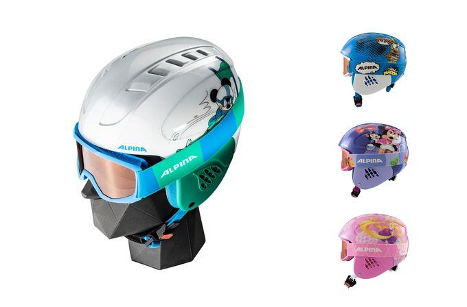 Alpina Kinderskihelm inkl. Skibrille CARAT SET DISNEY