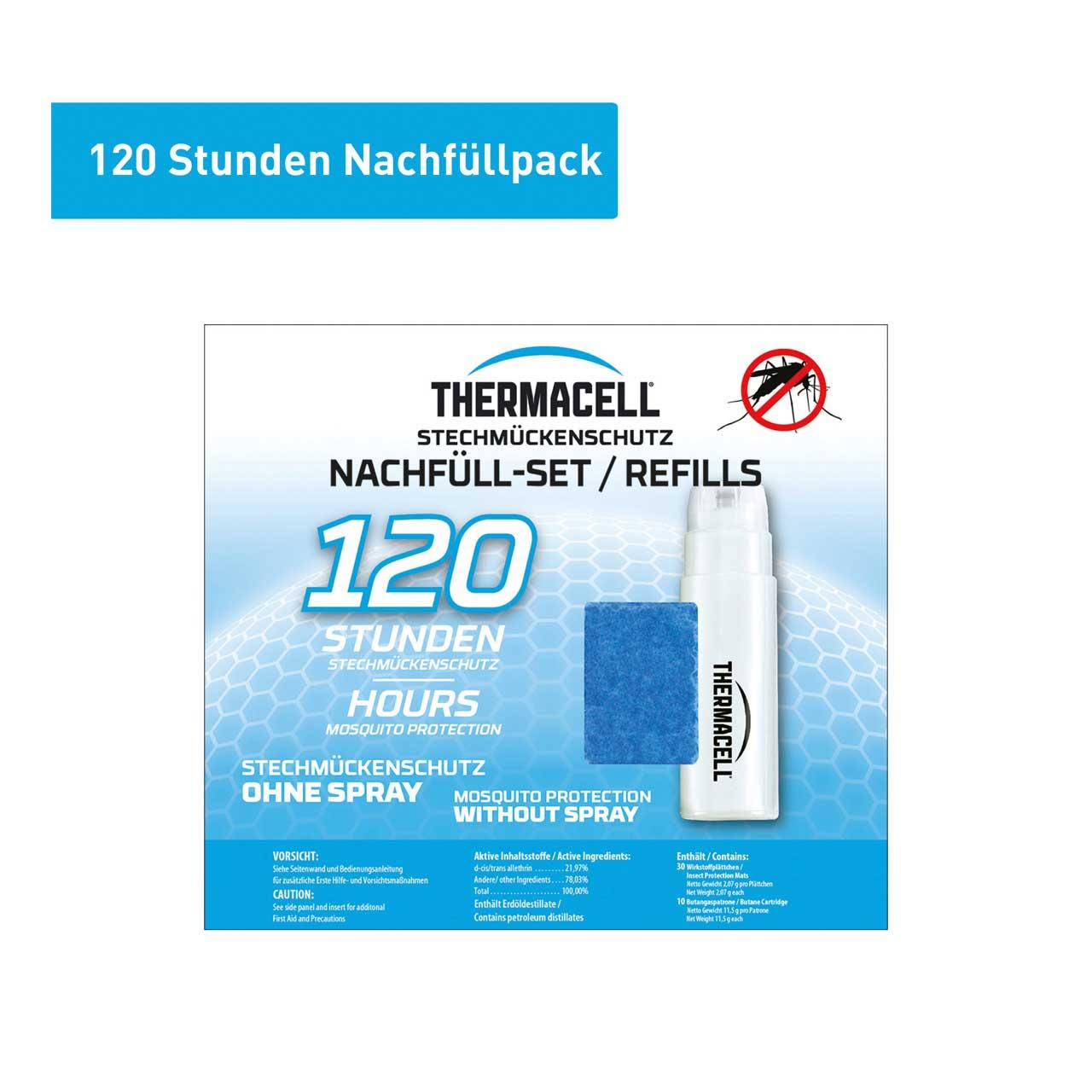 Thermacell Nachfüllpack Gas + Wirkstoffplättchen für 120 Stunden