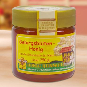 Honing, Bergbloemenhoning, 250 g