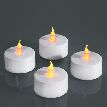 LED-Teelichter, weiß, 4er Set