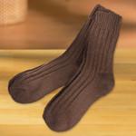 Norweger Socken, braun, 2 Paar 001