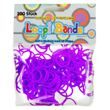 Loopi Bands, »Glowing in the dark«, lila – Bild 1