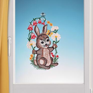 Fensterbild, gestickt »Hase« – Bild 1