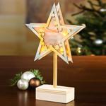 Weihnachtsstern aus Holz mit Fuß 001