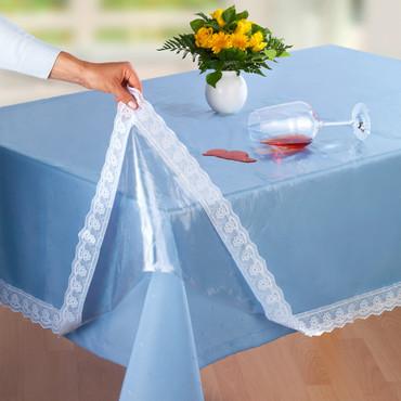 Spitzen-Tischdecke, Transparent – Bild 1