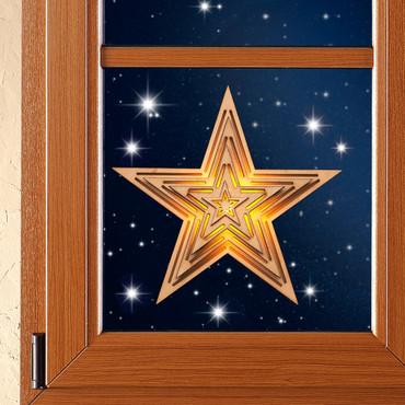 Houten ster met LED-licht
