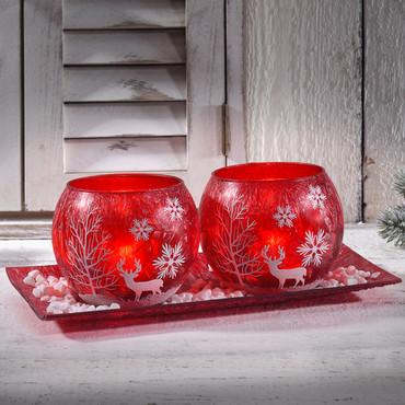 Teelichthalter-Set »Winter«, 3-teilig