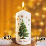 Motiv-Kerze »Weihnachtsbaum« 001