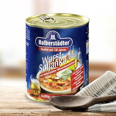 Potages et soupes-repas d'Halbstadt , Saucisse-soljanka