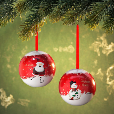 2 boules de Noël avec bonbons – Bild 2