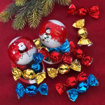 2 boules de Noël avec bonbons – Bild 1