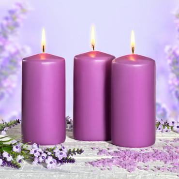 Lavendel-Kerzen, 3 Stk.