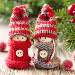 Weihnachtliche Strickkinder, 4 Stück