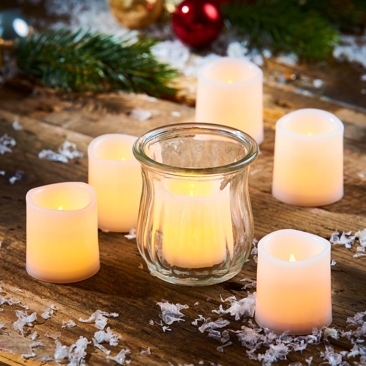 Weihnachtsdeko Led Kerzen.Led Kerzen Set 12 Stück
