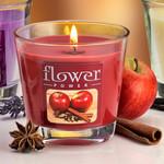 Duftkerze im Glas, Apfel-Zimt 001