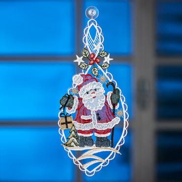 Fensterbild »Weihnachtsmann«