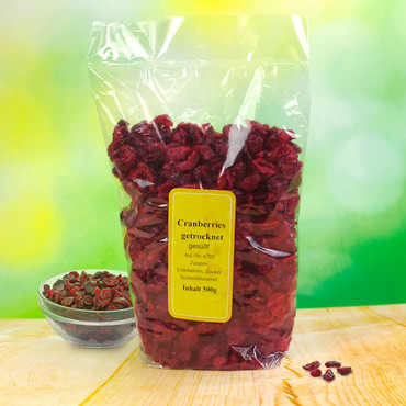 Gedroogde cranberry's