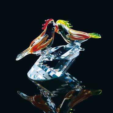 Cristal « Perroquets »