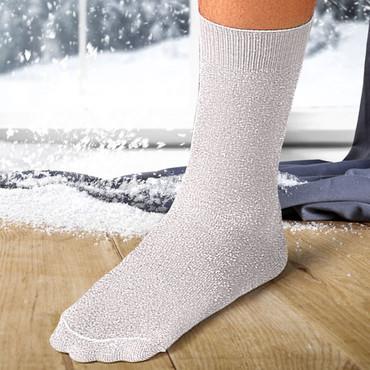 Chaussettes isolantes pour femmes, Blanc