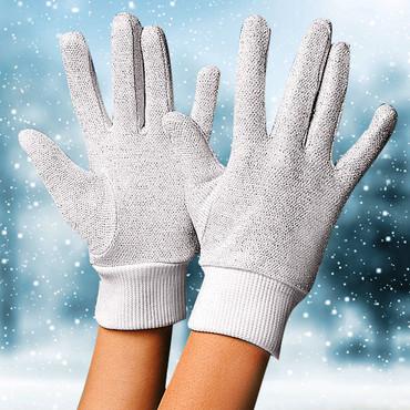Gants isolants pour femmes, blanc