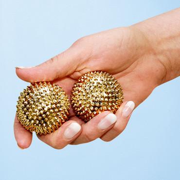 Boules de massage-magnétisme-acupuncture, 2 pièces