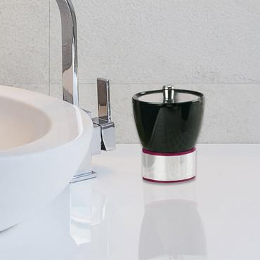 Accessoires de salle de bains CERRO, Boîte universelle, Noire/rouge/argent – Bild 1