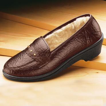 Chaussure d'extérieur et d'intérieur, brun