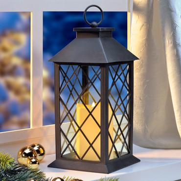 Lantaarn met LED kaars