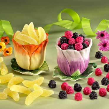 2 Blütentöpfe mit HARIBO Süßigkeiten – Bild 1