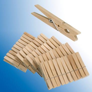 Holzwäscheklammern, 50 Stk.