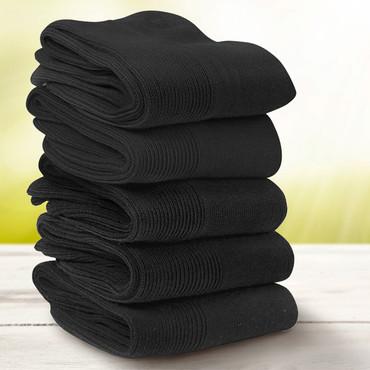 Gesundheits-Socken, 5 Paar, schwarz