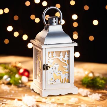 Lantaarn met leds »Glitterende kerst«