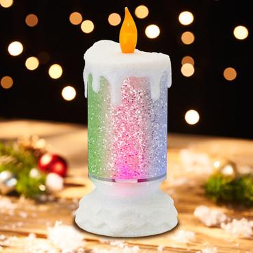 LED-Kerze »Glitzerwirbel« – Bild 1