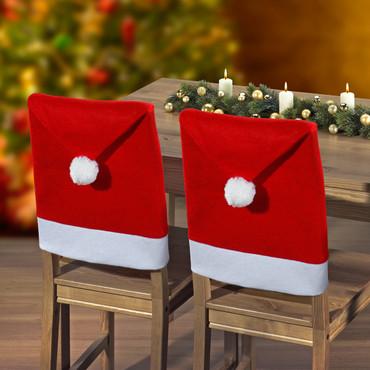 Housses de chaise »Bonnet de Père Noël«, 2 pièces