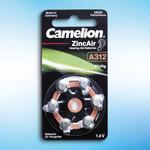 Zink-Knopfzellen für Hörgeräte, A312, 6 Stück 001