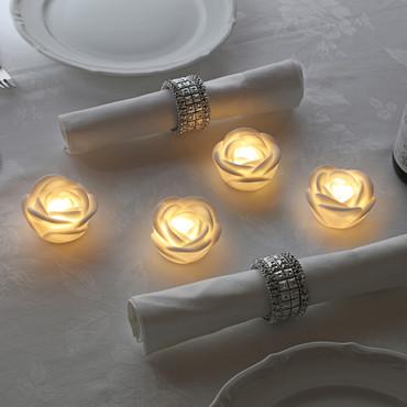 LED-Deko-Rosen, 4 Stück – Bild 1
