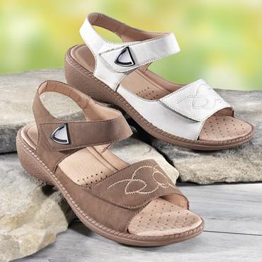 Klett-Sandalette, beige