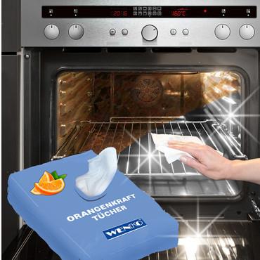 Reinigungstücher mit Orangenduft, 50 Stück – Bild 1