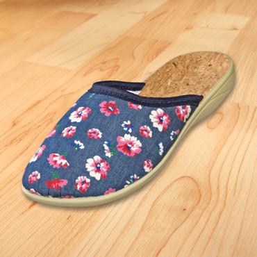 Pantoffel mit Blütenmuster