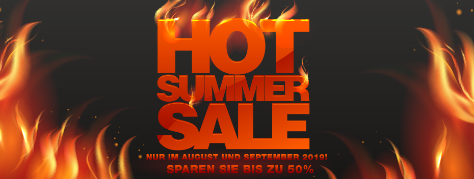 HOT SUMMER SALE im gesamten August und September 2019!