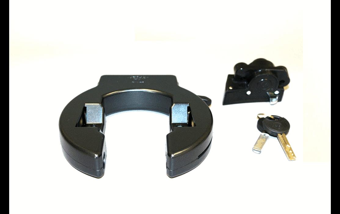eBike Rahmenfelgenschloß und Batterieschloß für Impulse & Panasonic