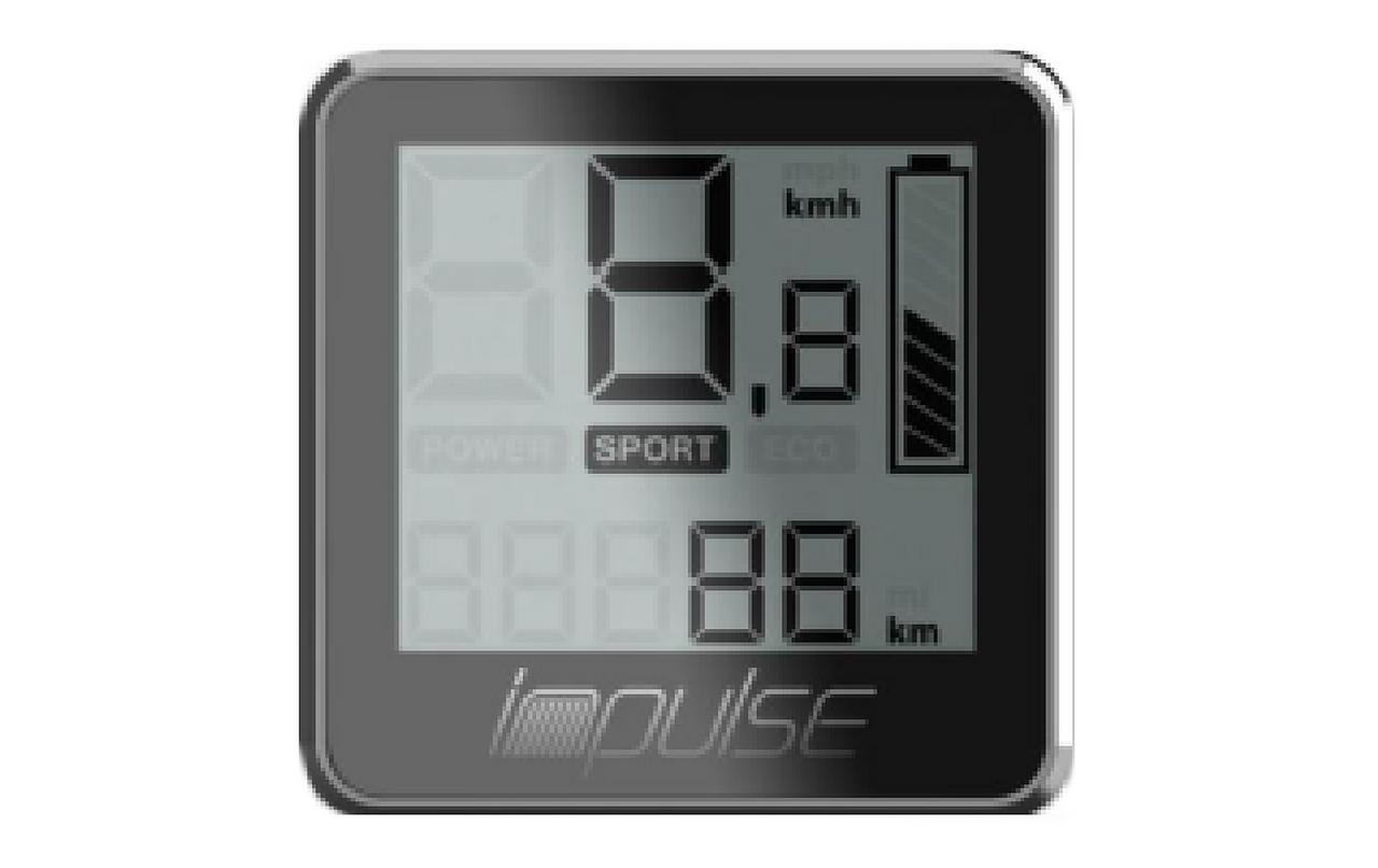 IMPULSE 1 & 2 DISPLAY LCD KLEIN MIT CONTROL PANEL – Bild 1